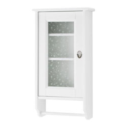 Carina Bengs - FLÅREN Wall cabinet - Wall cabinet, white, glass