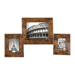 Uttermost - Uttermost 18555 Hema Photo Frames Set of 3 - Uttermost 18555 Hema Photo Frames Set of 3