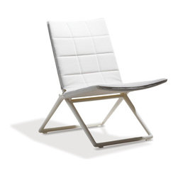 Ibiza Folding Chair - Contemporary European design combined with cutting edge outdoor materials creates a bold design. This, along with ease of transport, low-maintenance, long-lasting and weather-resistant features make this a sensational outdoor chair.