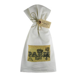 Paris France    Flour Sack Towel  Set of 2 - A fabulous set of 3 flour sack towels. This set features a wonderful Thanksgiving antique print of everyone's favorite place�..Paris.   These towels are printed in the USA by American Workers!
