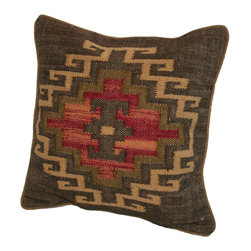"""Rennie and Rose - Rennie and Rose, Red, 20"""" Square, Marrakesh - Rennie & Rose introduces our Kilim Collection, Moroccan inspired Ikat designs for the home.  Bring high design, style and vibrancy to any space with our mix and match styles made of jute and cotton.  Hidden zip cover w/ poly fill insert.  Spot clean or dry clean only."""