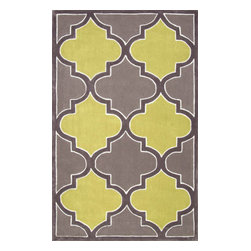 """nuLOOM - nuLOOM Contemporary Slate Hand Tufted Area Rug Trellis (9' X 12'), Green Grey, 8 - Green Grey (Contemporary) Rug - 100% Polyester - 8' 3"""" x 11'"""