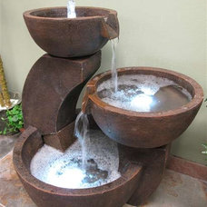 Traditional Outdoor Fountains And Ponds by Justin Hou