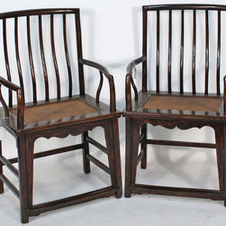 Ming-Style Antique Chair with Rattan Seat - Ming-Style Antique Chair with Rattan Seat