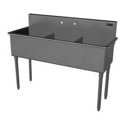 Griffin - Griffin Triple Compartment Scullery Sink (T60-388) - Griffin T60-388 Triple Compartment Scullery Sink