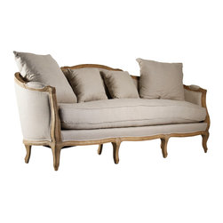 Zentique - Maison Sofa - When it to comes to a sofa for your traditional home, you needn't sacrifice comfort to get the look you love. This elegant oak-framed piece is amply upholstered and pillowed, welcoming you to relax in style.