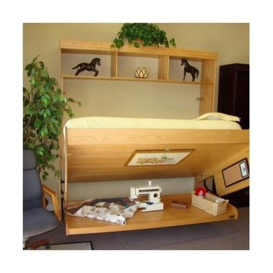... locks in the closed position for a steady work surface.-Made in USA