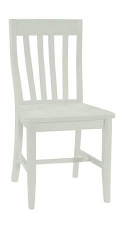 International Concepts - International Concepts SchoolHouse Wood Side Chair in White Finish (Set of Two) - International Concepts -Dining Chairs -C3161P -Your home is a natural extension of you. Add these innovative designs from International Concepts to spruce up any decor. These Schoolhouse Chairs by International Concepts bring a contemporary look to your home with a slatted back and solid wood with box seat construction. Available in a set of 2 with a white finish these chairs are easy to assemble for any room in your house.
