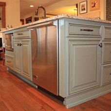 Eclectic Kitchen Cabinetry by Starlite Kitchens and Baths