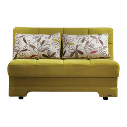 Istikbal - Twist Loveseat Sleeper in Optimum Green - Featuring a built-in storage unit and ready to use sleek loose pillows, Twist Loveseat Sleeper in Optimum Green sets down the amazing style in your room! A visually intriguing body of the love seat sleeper is built to last a lifetime.