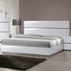 Chintaly Imports - Manila Queen Bed - MDF, Plywood, and Solid Wood. Button Tufted Headboard. Moistureproof and Fire Resistant.
