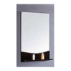 """Superiorbath - 34"""" x 24"""" Bathroom Vanity Mirror - Features: -Vanity mirror. -Solid wood frame and backing. -Espresso finish. -Mirror with solid wood shelf underneath. -Surface mounted on wall. -Solid wood shelf for additional storage. -1 Year manufacturer limited warranty. Specifications: -Dimensions: 33.5"""" H x 23.5"""" W x 4.5"""" D ."""