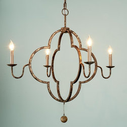 Double Quatrefoil Chandelier -
