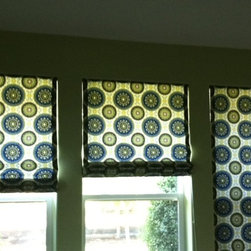 window coverings by smith+noble - Smith+Noble Flat Roman shades