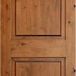 Mediterranean Doors True Arch 2 Panel Solid Wood Knotty Alder Door A Solid Wood Door Made