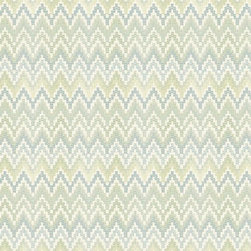 Heartbeat Wallpaper - In homage to Waverly's fine fabrics this stylish print mimics a woven textile. The chevron pattern, presented in variegated shades that melt into one another, is done in raised inks to lend additional dimension and reality to the illusion. The five available palettes include dusty lilac, old rose and taupe or spring green, teal and cream.