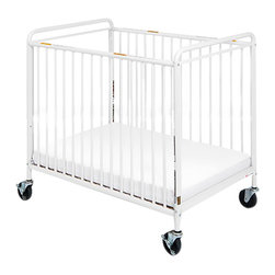 """Foundations - Foundations Baby Bedding Accessory Chelsea Clearview Crib 4"""" Casters White - The Chelsea Crib offers outstanding quality at a price you can afford. 360 deg welding process ensures long-lasting strength. Nonporous, easy-to-clean powder-coated finish. The durability of steel ensures your investment will last. Reinforced mattress board adjusts to two heights. Duraloft heavy-duty 3"""" mattress."""