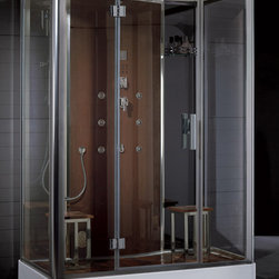 Ariel Platinum DZ956F8 Steam Shower - This steam shower is now available for the starting price of $3290.00  at http://www.BathroomEtc.com and http://wwww.SteamShowersInc.com Shipping is always free! SAVE 10% off, with coupon code BREHZ10 on BathroomEtc or coupon SSIHZ10 online and on phone orders at SteamShowersInc.com. To order by phone, call: 800-304-3598