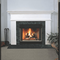 Fireplace Mantel - A simple look with fluted legs, a mantel that will blend in perfectly.