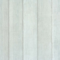 Walls Republic - Barrier Blue Grey Wallpaper R1380, Double Roll - Barrier is a tone on tone wood panel faux finish wallpaper. Use it for a realistic natural wood look in your bedroom. It will create a calming earthy vibe for a refreshing escape.