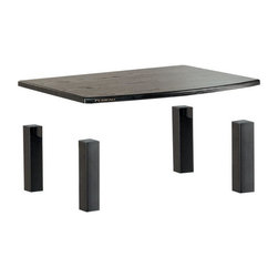 """Plateau - Audio Kit in Black Oak Finish - Add to the utility of your XT Series Audio Stand with the easily installed XT Series Add On Shelf.  The robust 2"""" thick MDF shelf is available in 4 woodgrain finishes and can be used to create custom component combinations. Superior modern styling. 0.75 in. curved and shaped shelves. Heavy gauge steel tube. Black textured baked powder-coated finish. Modular or expandable. 90 days warranty. Made from ash veneer laminated to MDF and metal. Minimal assembly required. Usable shelf space: 21.5 in. W x 18.25 in. D x 8.75 in. H. Top weight capacity: 200 lbs.. Middle shelves weight capacity: 70 lbs.. Overall: 26.5 in. W x 19.5 in. D x 9.5 in. H (20 lbs.)The XT Series has been built for the serious connoisseur who recognizes the importance of bringing an aesthetic touch and grand functionality to a room. The XT Series design makes it possible to turn all of your audio/video components into the Ultimate Furniture Design System. This gem is a beautiful and magnificent combination of strength, style and versatility. It's a must for those who only accept the best."""