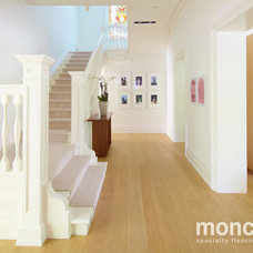 Contemporary Hardwood Flooring by moncer specialty flooring