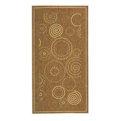 Safavieh - Indoor/ Outdoor Resort Brown/ Natural Rug (2'7 x 5') - Furnish your home with thiscontemporary indoor outdoor rug, made from the most durable and finely spun polypropylene materials. This versatile rug can be used in the high-traffic areas of your home or out in the elements of your backyard.