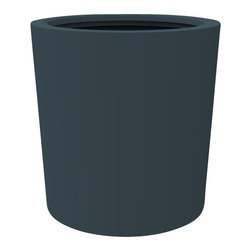 Decorpro - Large Vienna Planter, Charcoal - The Vienna planter is a more traditionally shaped pot. The round shape allows this planter to fit in with a wide variety of settings both indoors and outdoors.
