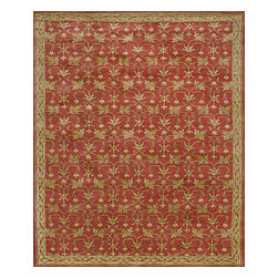 Rugsville - Rugsville Satara Persian Rust Gold Wool Rug 10551 , 8x10 - Handcrafted of pure, yarn-dyed wool by artisan rug makers.