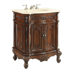 "Benton Collection - 27"" Traditional Fairmont Sink Vanity Cabinet Model #Cf-3905M-Tk - Dimensions: 26.5 x 21 x 33"" H"