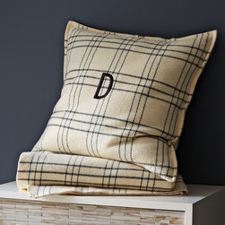 Window Pane Eurosham - I want two of these bad boys on my bed: one with the Mr.'s initials and one with mine.