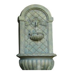 Serenity Health & Home Decor - Venetian Outdoor Wall Fountain, French Limestone - Make morning coffee on your patio a transformative experience with the soothing sounds of running water. This sturdy Polystone fountain is wall-mounted, making it perfect for intimate courtyards or smaller outdoor spaces. Plug it in and relax.
