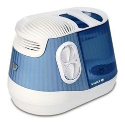 Kaz Inc - Vicks Filter Free Humidifier - No more fussing with messy filters. This easy-to-use, easy-to-clean humidifier keeps the air exactly as you like it with adjustable mist intensity, a built-in scent pad and whisper quiet operation.