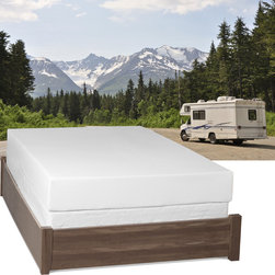 Select Luxury - Select Luxury Home RV 8-inch Queen Short-size Memory Foam Mattress - Sleep deeper and sounder with this eight-inch queen-size memory foam mattress. Featuring temperature-sensitive foam and a plush top,this mattress disperses weight evenly to improve circulation,and it cradles your body to minimize tossing and turning.