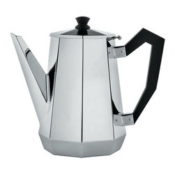 "Alessi - Alessi ""Ottagonale"" Coffee Pot - You take pride in your brew. Make sure your coffee is hot in more ways than one. With black bakelite handles, this hot pot is made of high-grade stainless steel in an octagonal shape that looks at once retro and modern."