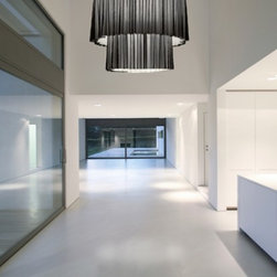 """Axo - Axo Skirt ceiling light - SK100-2 (small, 2 tier) - Products description: The small Skirt ceiling lamp (UP SKR 100-2) was designed by Fly Design from Axo, and is part of the Lightecture series and made in Italy. The small Skirt ceiling lamp had 2 tiers of circular shape fabrics and is for indoor installation. Its lamp shade is made from flame-retardant TREVIRA fabric and is available in both single (no black outer fabric skirt) or double versions (black outer fabric skirt) with a variety of color options.  *This is a custom product that ships in 10-12 weeks.      Products description: The small Skirt ceiling lamp (UP SKR 100-2) was designed by Fly Design from Axo, and is part of the Lightecture series and made in Italy. The small Skirt ceiling lamp had 2 tiers of circular shape fabrics and is for indoor installation. Its lamp shade is made from flame-retardant TREVIRA fabric and is available in both single (no black outer fabric skirt) or double versions (black outer fabric skirt) with a variety of color options.  *If you choose to have the double skirt the outside color is a black netting then you would choose what color for the underneath color.  Single skirt you would choose one color. In the picture the Skirt is shown as a double skirt with white underneath and the black on top.  *This is a custom product that ships in 12-14 weeks.  Please contact us for shipping charges for delivery in 6-8 weeks. Details:                         Manufacturer:                         Axo                                         Designer:                         Fly Design                                         Made  in:            Italy                            Dimensions:                         Height: 39.9"""" (101cm) X Width: 39.8"""" (100cm)                                                     Light bulb:                                      3 X 100W E26 Incandecent or             3 X 23W E26 Flourescent or             3 X 42W GX24q-4                                       """