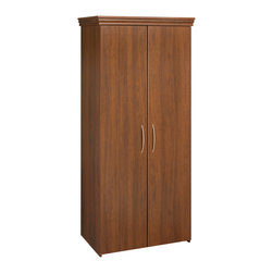 Black & Decker - Black & Decker Wardrobe,Walnut - This 2 door wardrobe  has a contemporary look that suits all types of décor. Unit features 1 full width overhead shelf for storing folded or bulkier items,and 1 rod for full length hang.