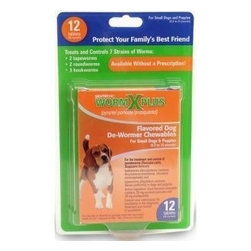 SERGEANT'S PET - Large Dog Sentry Wormx Plus - Treats and controls 7 strains of worms: 2 tapeworms, 2 round worms and three hookworms. Comes in an easy and convenient chewables. Contains 12 flavored tablets. For medium/large dogs over 25 lbs.