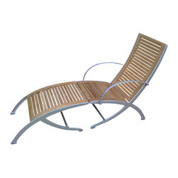 Classic Teak - Teak Aluminum Steamer - Teak aluminum steamer chair is made from high quality teak and solid aluminum. It can be used with or without footrests. It is perfect for your deck or patio.