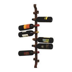 "Silver Nest - Iron Wine Rack- 32.5"" - Rustic Iron Wine Rack"