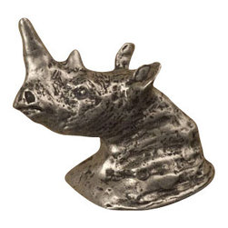 Anne at Home Hardware - Rhino Head Knob, Antique Bronze - Made in the USA - Anne at Home customized cabinet hardware enables even the most discriminating homeowner to achieve the look of their dreams.  Because Anne at Home cabinet hardware is designed to meet your preferences, it may take up to 3-4 weeks to arrive at your door. But don't let that stop you - having customized Anne at Home cabinet knobs and pulls are well worth the wait!   - Available in many finishes.