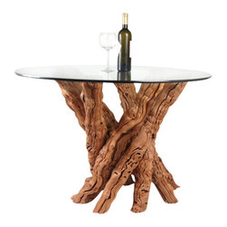Wine Country Craftsman - Old Vine Grapevine Dining Table - I specialize in creating tables and other furniture out of 60-100 year old retired grape vines from California's premiere wine growing region.