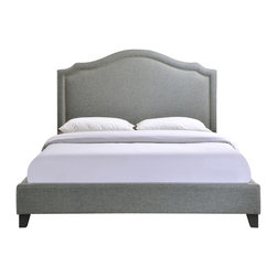 Modway Furniture - Modway Charlotte Queen Bed Frame in Gray - Queen Bed Frame in Gray belongs to Charlotte Collection by Modway Powerful lines complement soft hues with this bed ensconced in whispered elegance. Luxuriously crafted with a nail head decorative trim and tufting, Charlotte is a bedroom centerpiece that imbues elegance, while bestowing a gentle flow over your surroundings. Set Includes: One - Charlotte Footboard One - Charlotte Headboard One - Charlotte Siderail Bed Frame (1)