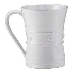 Berry and Thread Mug - Whitewash - From your place by the fire sip a seasonal hot toddy, or enjoy an aromatic coffee before the demands of the day arrive. Beautifully designed with a delicate thread and berry motif, the mug has an elegantly curved handle and a generous size. A soft whitewash finish enhances the charming yet sophisticated appeal of the piece.