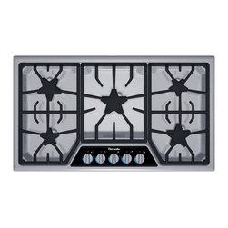 Thermador - 36 inch Masterpiece Series Gas Cooktop - Our fourth generation Star Burner puts more heat on the pan for faster cooking, and our exclusive ExtraLow burners give the lowest temperature simmer available. Learn more about the features and benefits of our gas cooktops and stovetops.