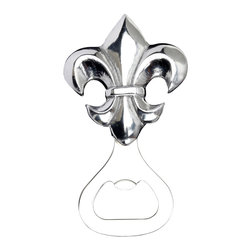 Arthur Court - French Lily Bottle Opener - Pop open your favorite beverage with French aplomb. This 5-inch opener features an elegant fleur-de-lis handle in dazzling cast aluminum. Add it to your bar to turn any party into a soiree — or give it away to your favorite fancy Francophile.