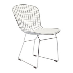 Modway - Modway EEI-161 CAD Dining Side Chair in White - The minimal nature of this CAD Wire Side Chair is an asset for any lover of modern furniture. A simple yet stylish design evoking the height of modern classic design. As comfortable as it is attractive, this is the sort of accent chair that starts conversations.
