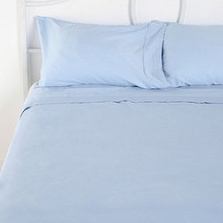 Sateen Sheet Set, Blue - These just look like they're calling my name with silky softness.
