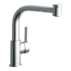 Elkay - Lf Pullout Kit Faucet -37223- CR - Product height: 12. Product min width: 19.7. Product depth: 33.5 lf pullout kit fct -37223- cr. Mystic sinks and faucets take their cue from water itself with naturally flowing shapes and an organic feel. The resulting gentle designs stand out to make a distinctive yet softened transitional statement. The Mystic pull-out kitchen faucet deck mount pull-out spray.