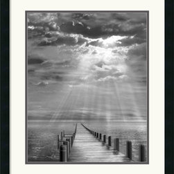 Amanti Art - Storm Clearing Framed Print by Ellen Fisch - Photographer Ellen Fisch uses the play of light and shadow in this fine art print 'Storm Clearing' to bestow a magical quality to this coastal setting.
